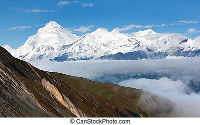 Mount Dhaulagiri - Dhaulagiri himal - Nepal - view from...
