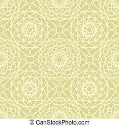 Vintage lace seamless pattern with circular ornaments