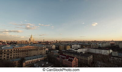View of Moscow from the roof in the center
