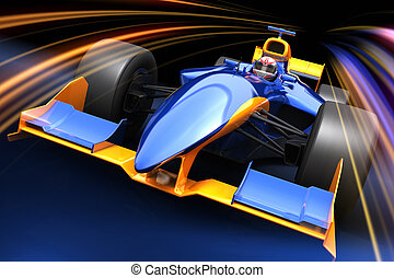Formula One race car - Race car with no brand name is...