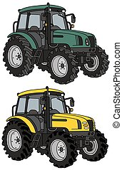 Tractors - Hand drawing of two tractors - any real models
