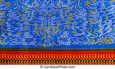 Manufactured African fabric, cotton