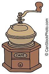 Coffee grinder - Hand drawing of a vintage coffee grinder