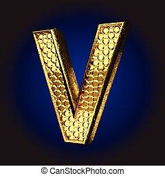 v golden letter