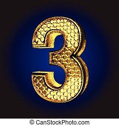 dorado,  3, carta