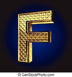 f golden letter