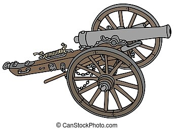 Historical cannon - Hand drawing of a historical cannon