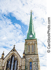 Green Steeple on Old Stone Church