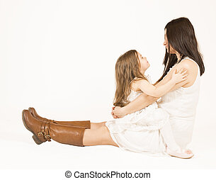 Mother and daughter togheter - Happy family concept. Mother...