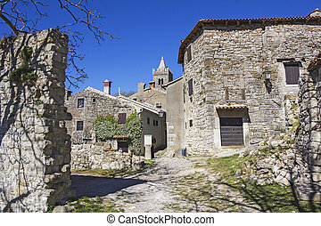 Hum the smallest town in the world - Hum in Istria, Croatia,...