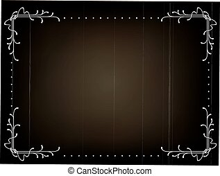silent movie frame - Old silent movie frame in art nouveu...
