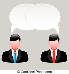 business men - Icon of business men with thoughts and ideas....