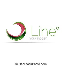 Swirl company logo design Universal for all ideas and...