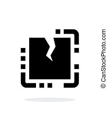 Broken CPU simple icon on white background Vector...