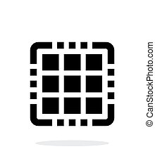 Multi Core CPU simple icon on white background Vector...