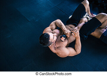 Man fighting with woman