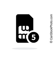 SIM card with number simple icon on white background Vector...