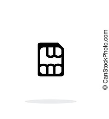 Nano SIM simple icon on white background Vector illustration...