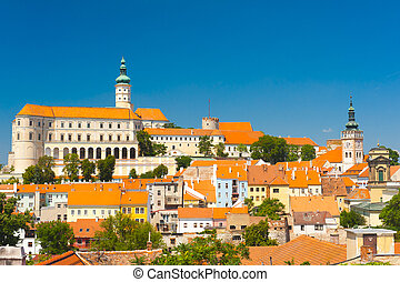 Mikulov - Beautiful town of Mikulov with a castle South...