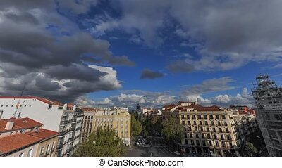 Day in Madrid - Time lapse in downtown Madrid, by day