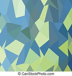 Lime Green Pastel Blue Abstract Low Polygon Background - Low...