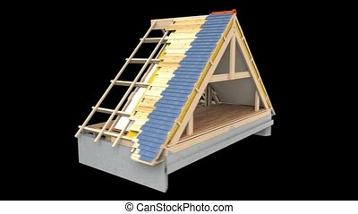 Roof structure - Footage showing materials in roof...