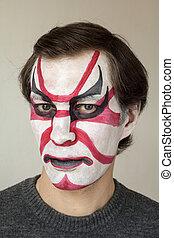 Kabuki, Pintura, cara