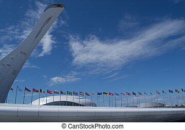 Sochi Flame Cauldron Statue - SOCHI, RUSSIA 2nd of April...