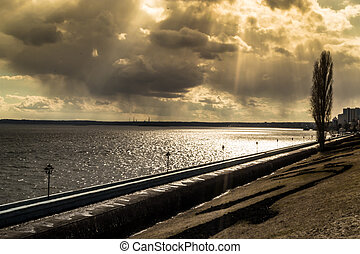 River Volga - Sunshines onto the banks of the river volga in...