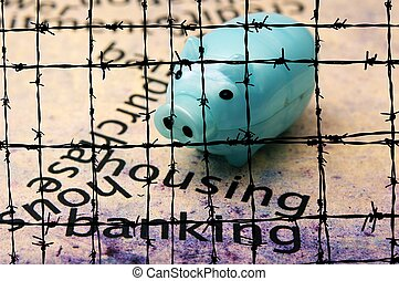 Housing banking concept