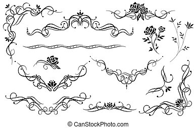 flower pattern - illustration drawing of beautiful flowers...