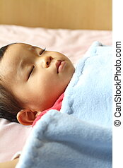 Sleeping Japanese boy (1 year old)