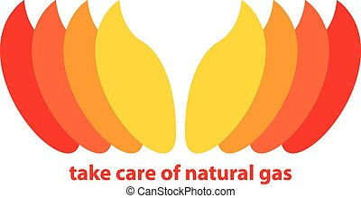 take care of natural gas. vector illustration