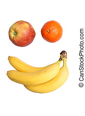 smiling face made from fruits