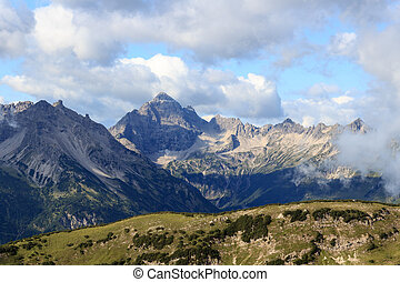 Allgau Alps - Mountain Hochvogel - Mountain Hochvogel in the...