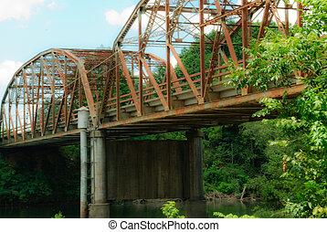 Steel Bridge in rural Oklahoma.
