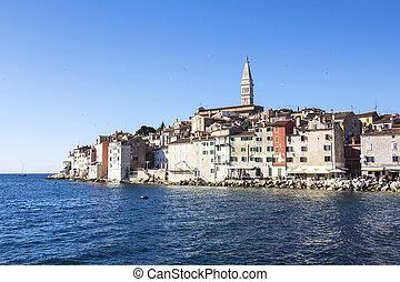 Rovinj, beautiful old town in Istria of Croatia, Europe