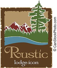 Rustic outdoors logo with copy space in Vector Format