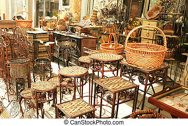 Decorative bamboo furniture outdoor shop in Cyprus