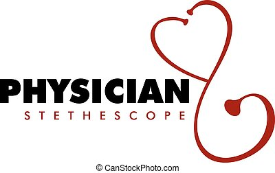 Stethescope icon - Icon for a doctor, physician or clinic...