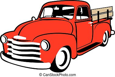 Truck Illustration - Red Truck Illustration