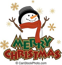 Snowman Icon with Christmas Header