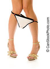 long lady legs - Beautiful long lady legs on high heels and...