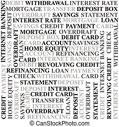Banking terms background