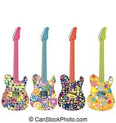 Flower power guitars