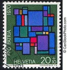 Abstract composition by Celestino Piatti - SWITZERLAND -...