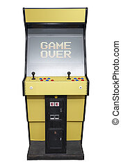Arcade game over - Vintage video game with Game Over screen...