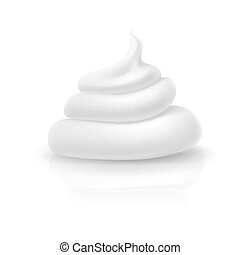 Cosmetic cream - Essence cream isolated on a white...
