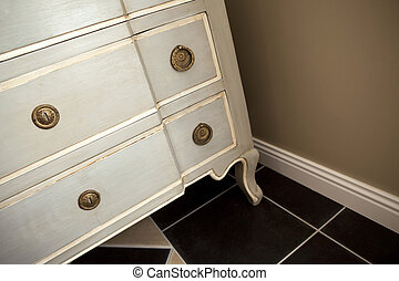 Wooden chest of drawers - Close up of a wooden chest of...