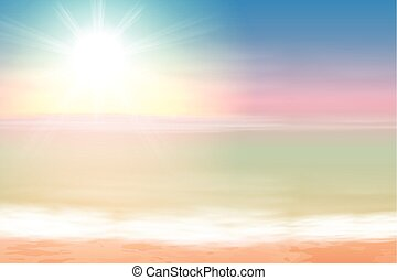 Beautiful sea sunset. EPS10 vector.